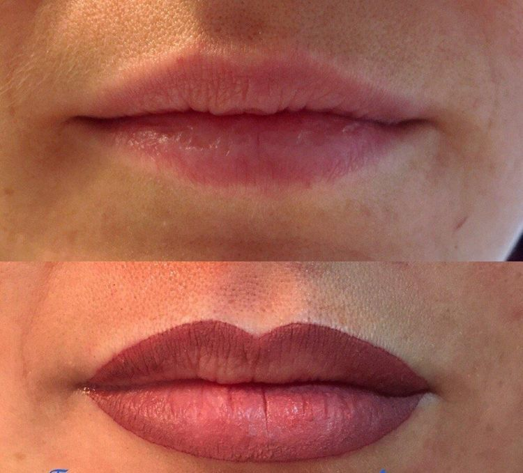 Permanent Make Up Lippen Farbe Taettowieren Kontur Voll Make Up Lippen Lippen Permanent Make Up Lippen