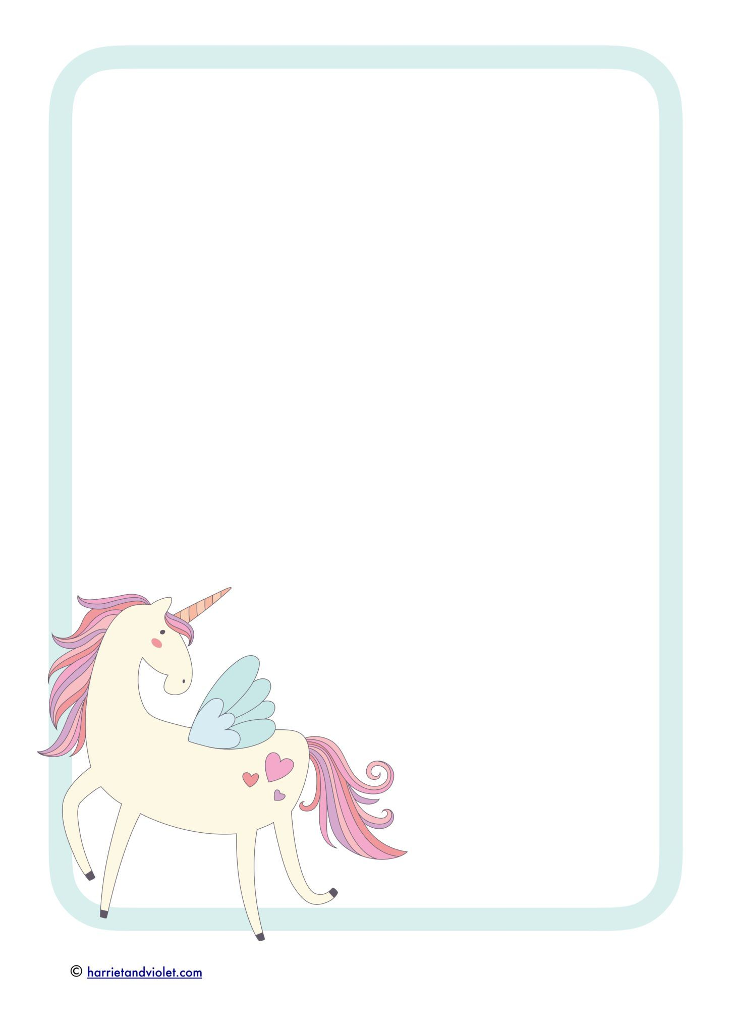 Unicorn Border Paper