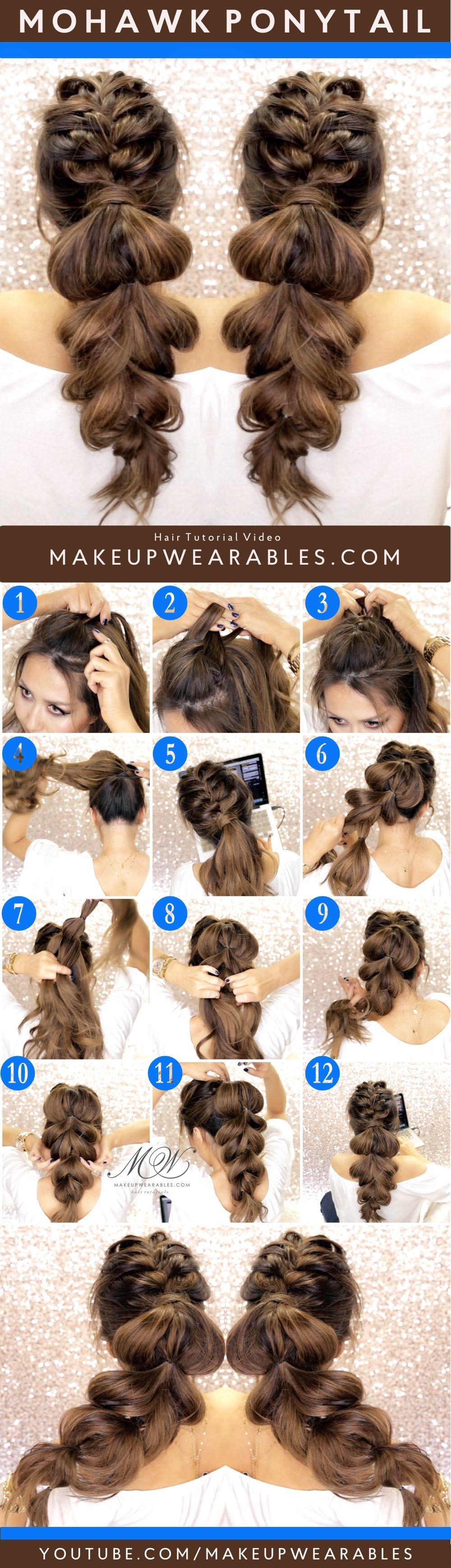 Cute braided ponytail hairstyles hair beauty 헤어