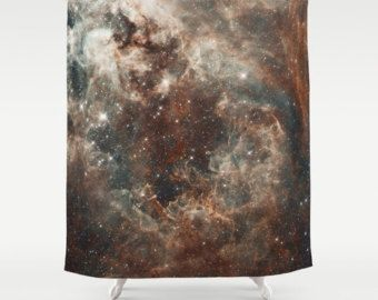 Galaxy TARANTULA NEBULA Shower Curtain Space Sci Fi Bathroom Shower