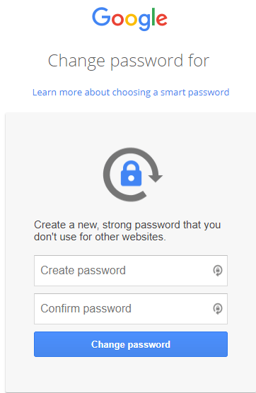 change-google-password