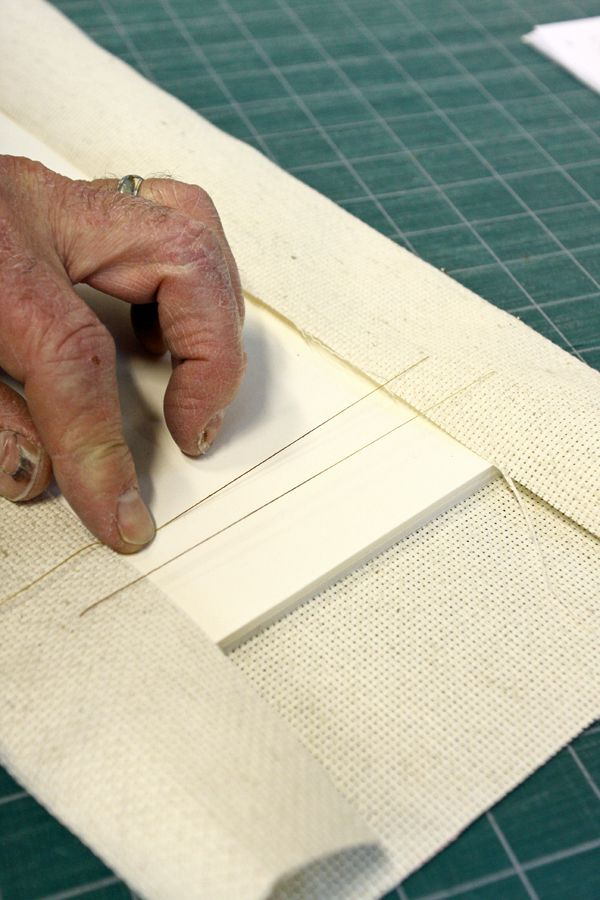 Learn how to frame a needlepoint using a lacing technique, which ...