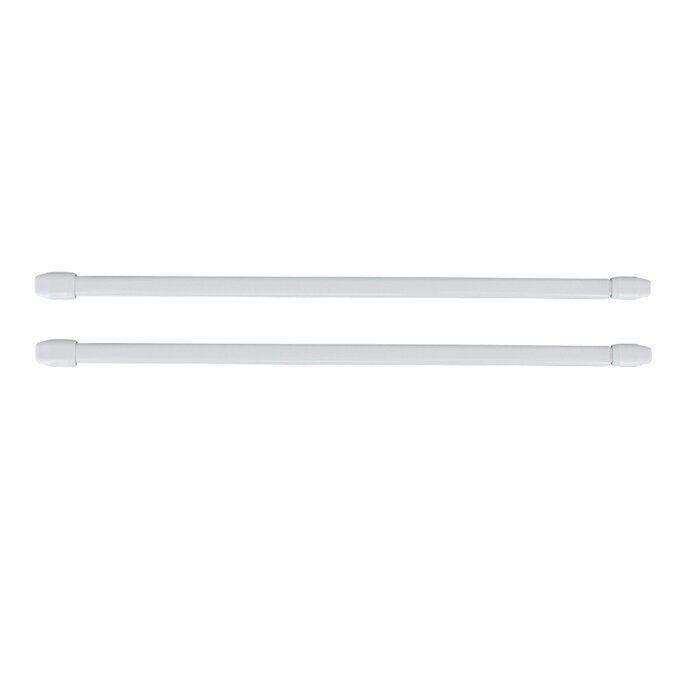 Adjustable Flat Sash Curtain Single Rod Curtain Rods Cafe