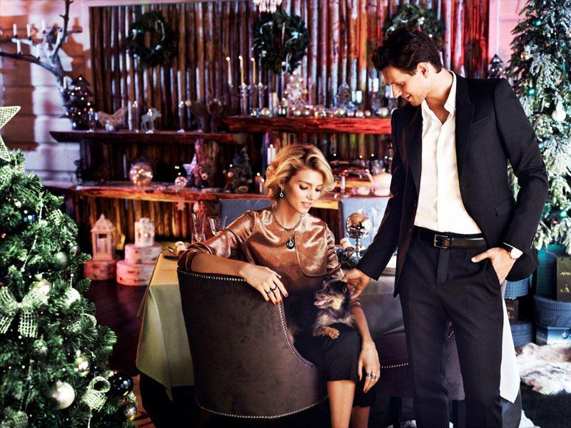 ANJA RUBIK & SASHA KNEZVIC FOR APART CHRISTMAS 2013