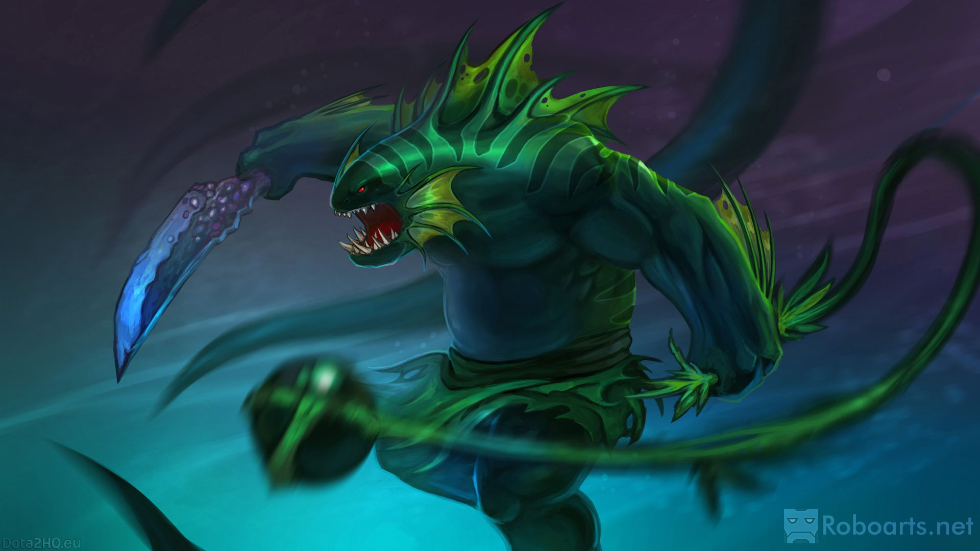 this image is of tidehunter from dota 2 i like the lizard look