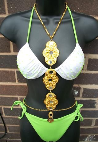 101da0671016d Gold Body Chain   Body Harness   Body Jewellery