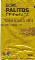 """Patatas fritas en palitos """"Hacendado"""" - Producto"""