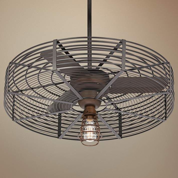 32 Quot Vintage Breeze 1 Light Bendlin Cage Ceiling Fan