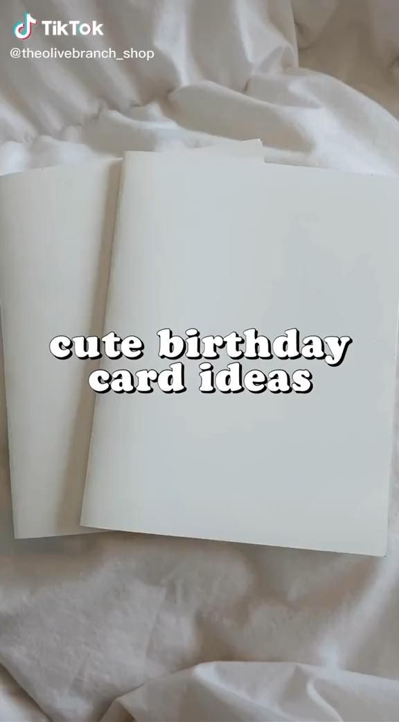 Tik Tok Theolivebranch Shop Birthday Card Drawing Calligraphy Birthday Card Happy Birthday Cards Diy