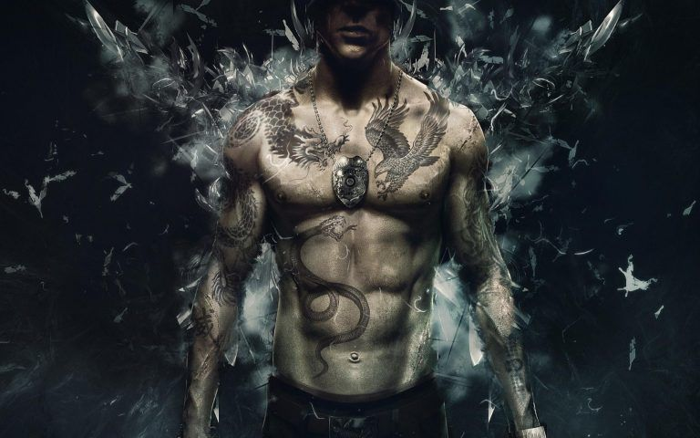 Skull With Jaw Dropped: 61+ Jaw-Dropping Chest Tattoos & Meaning