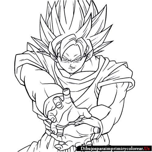 Dibujos de Dragon Ball GT para Imprimir y Colorear  Dragon Ball