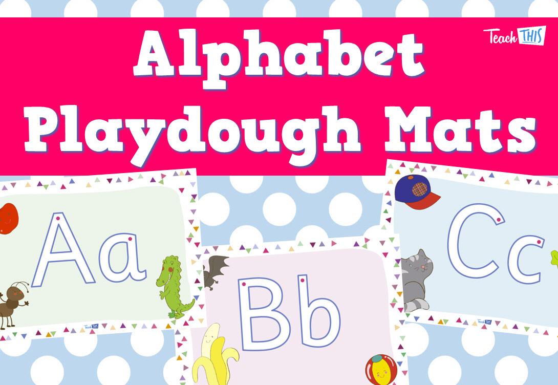 Alphabet Playdough Mats | Preschool ideas | Pinterest | Motor skills ...