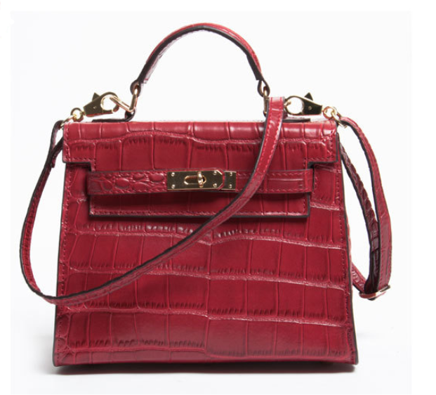 Mini Fashion Genuine Leather Croco Women Shoulder Bags Quality Handbags Guangzhou Name Brand Whole