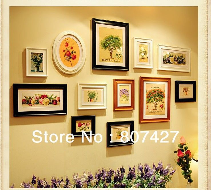 Soild Wood Frame Wall Wall Frame 12 pcs Set House Home Wall Decorate ...