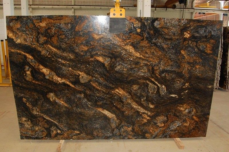 Dark Brown Granite Countertops : Dark brown saturnia granite pictures full size slab