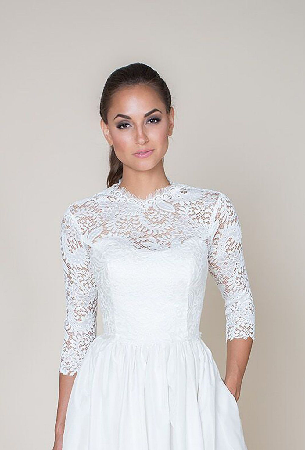 Bridal Add On Bodice Top Wedding Dress Gown Lace
