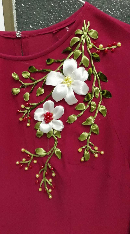 Gorgeous Ribbon embroidery design