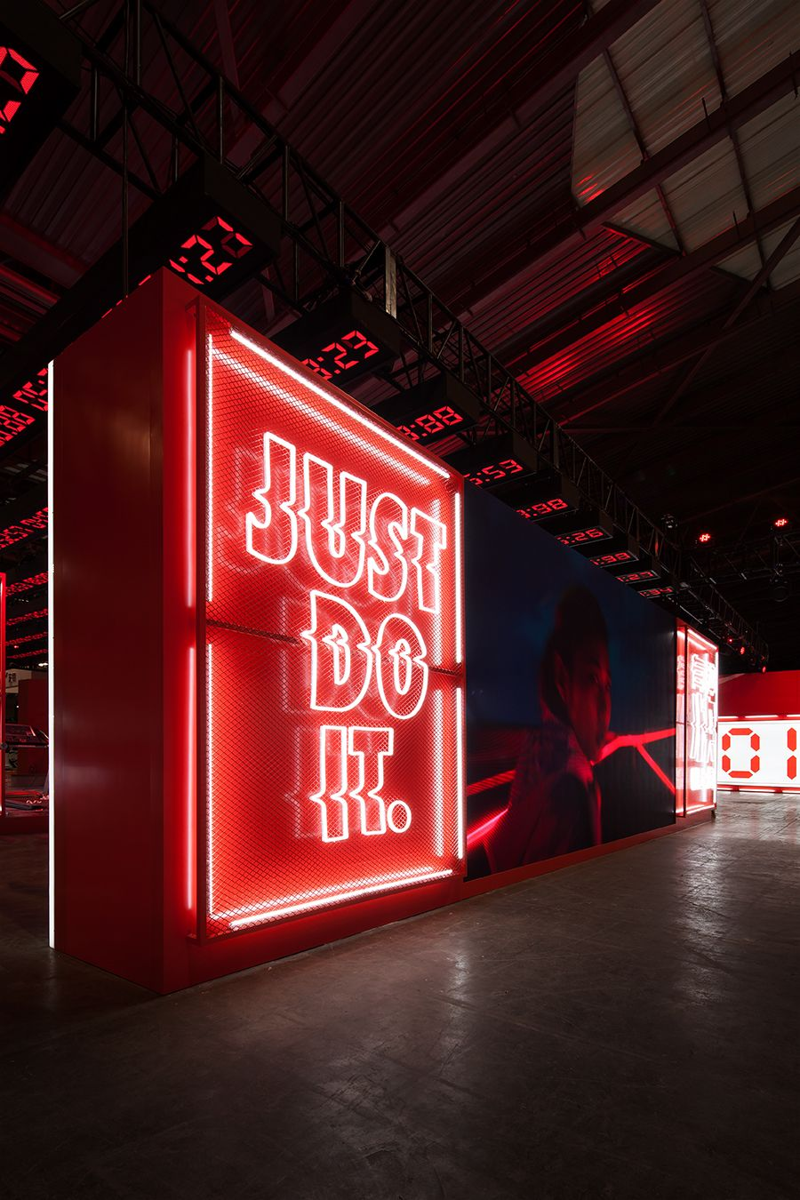Nike Shanghai Marathon Expo 2017 Design Event Pinterest  # Faire Support Aquarium Beton Cellulaire