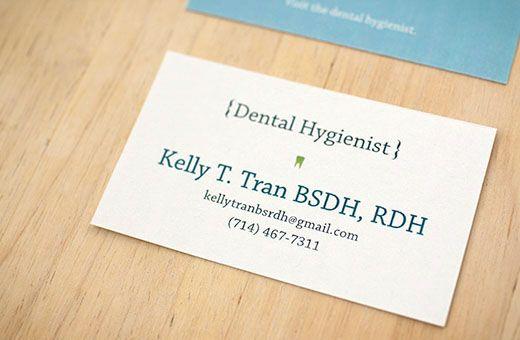 Dental Hygienist Business Card On Behance