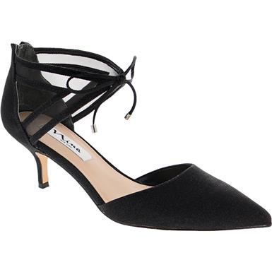 Extremely Well Worn Black Leather Kitten Heel Slingbacks Ladies Used Shoes Anneklein Kittenheels Kitten Heel Slingbacks Kitten Heels Wearing Black