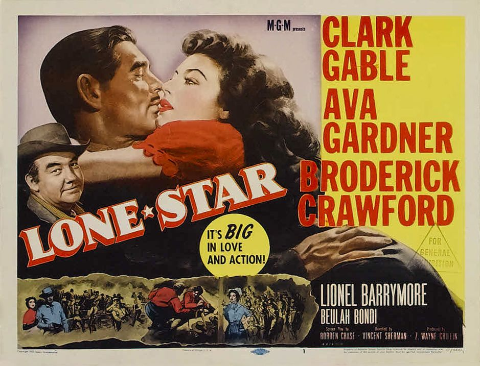 Lone Star Lobby Card Movie Poster Clarck Gabel