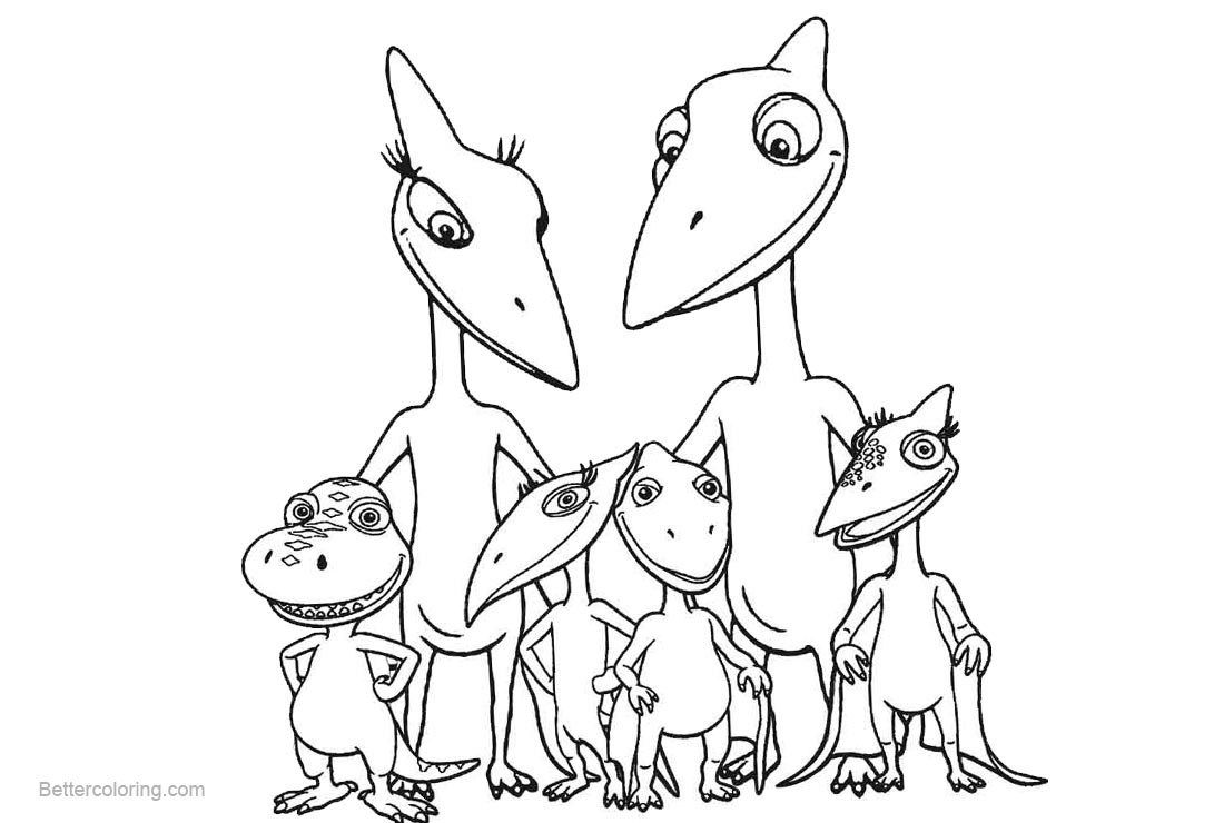27 Brilliant Image Of Dinosaur Train Coloring Pages Dinozavry