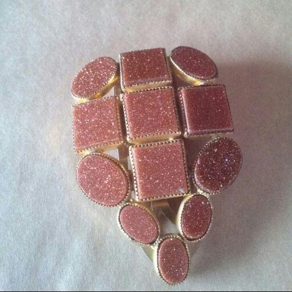 Sale! 40s sunstone firestone dress clip Dazzling vintage dress clip fur clip with intricate bezel settings. Vintage  Jewelry