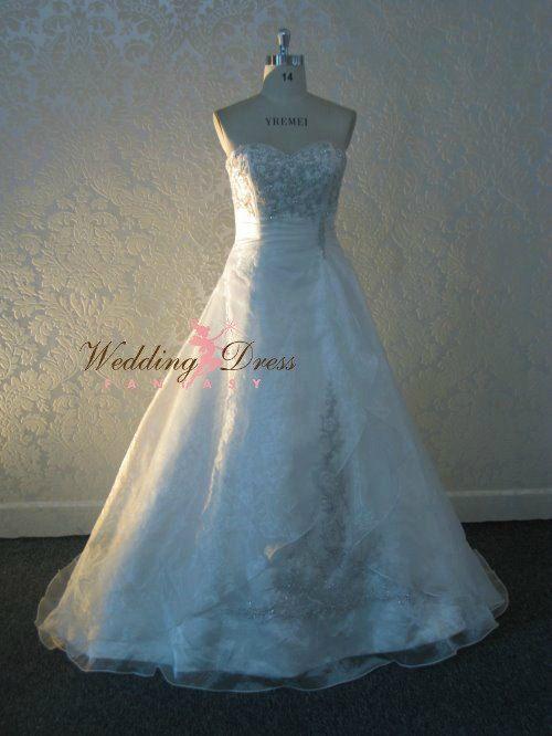 Princess Sweetheart Wedding Dress Organza by WeddingDressFantasy ...