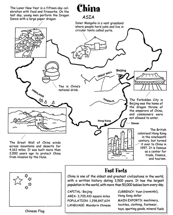 Welcome to Dover Publications Around the World Coloring Book ...