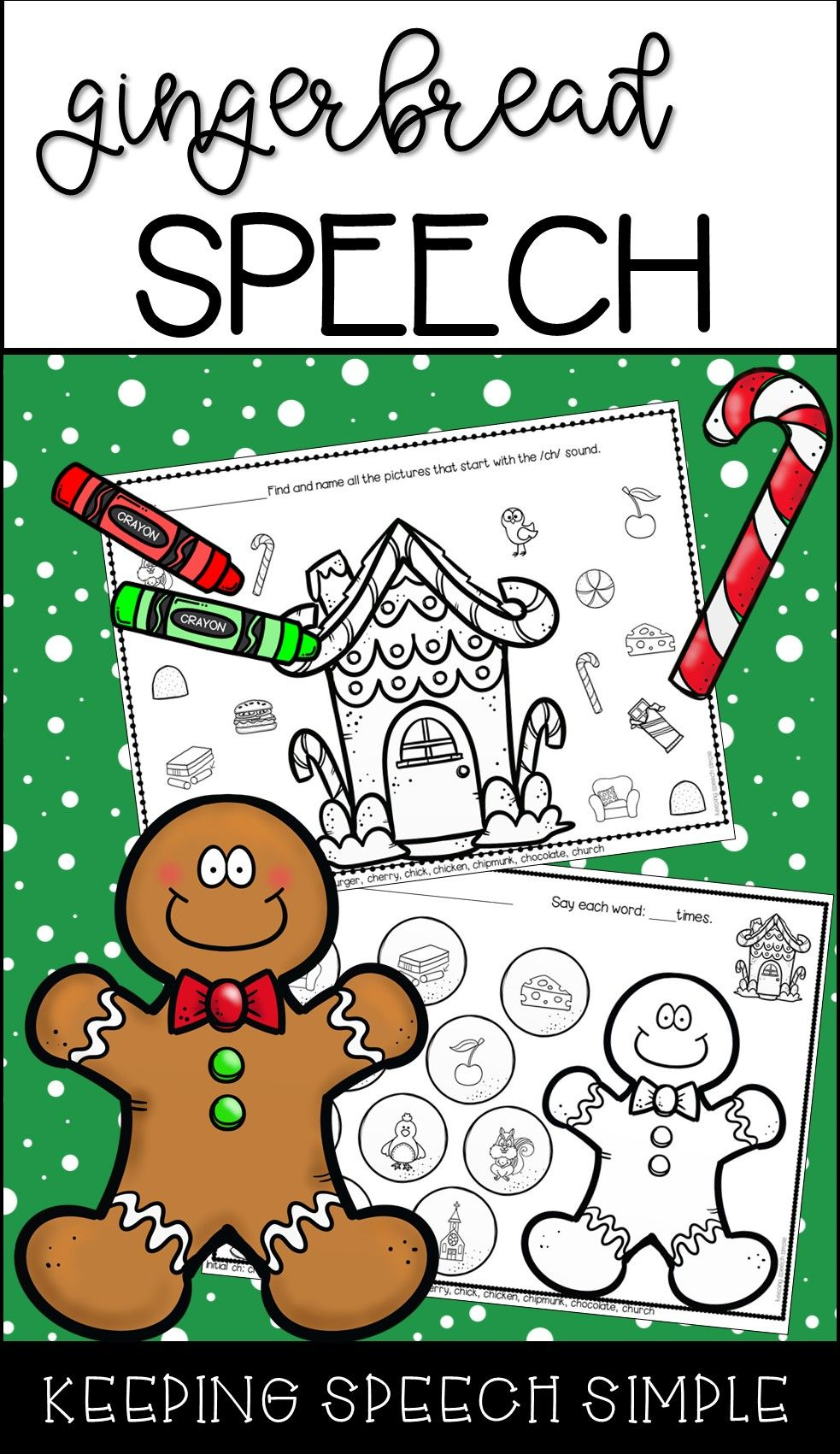 Gingerbread Speech No Prep Worksheets For Speech Therapy Christmas Speech Therapy Winter Speech Therapy Speech Therapy Activities [ 1701 x 983 Pixel ]