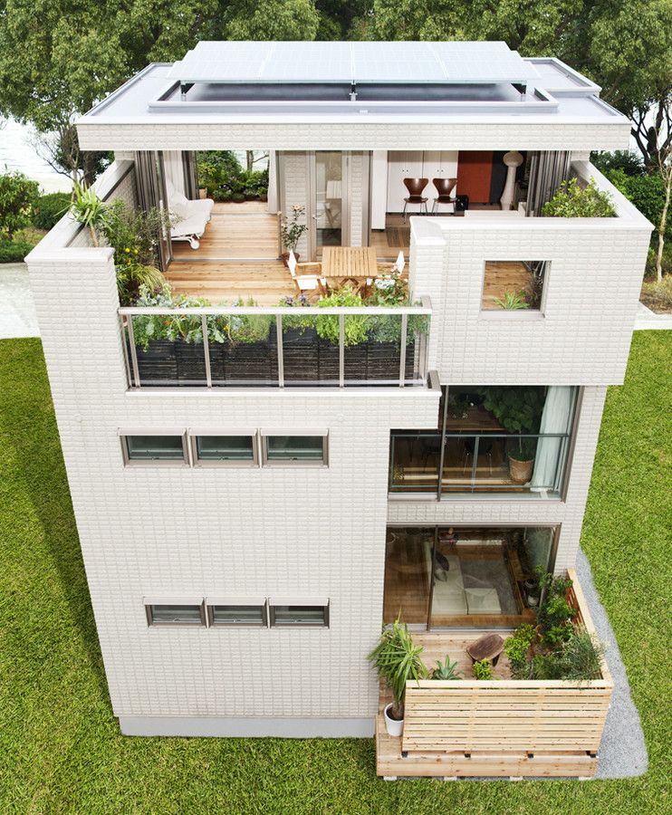 素敵な外観 と言われる3階建て住宅をつくる方法 ミニマリストホーム