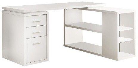 Monarch Specialties Corner Desk Everyroom Affiliate Schreibtisch Weiss Ecktisch Schreibtischideen