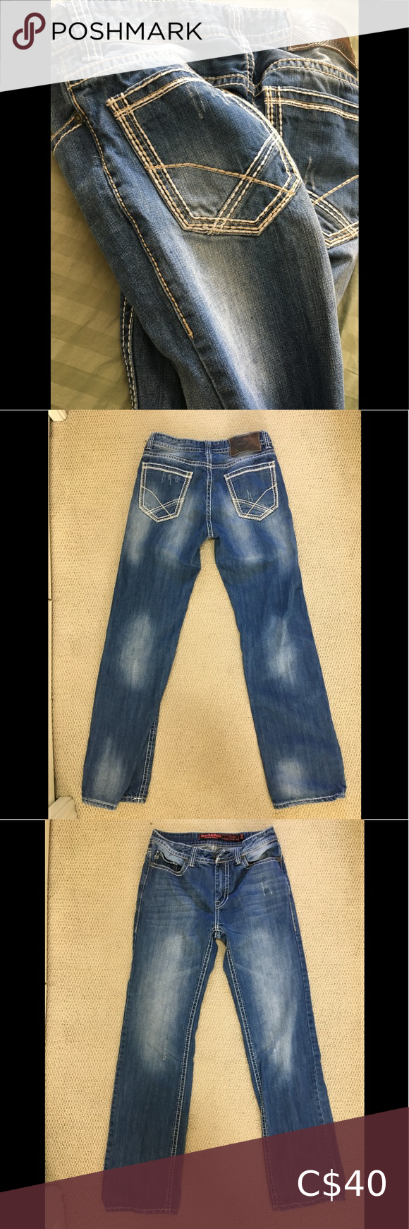 Rock And Roll Cowboy Men's Jeans Size 31 X36