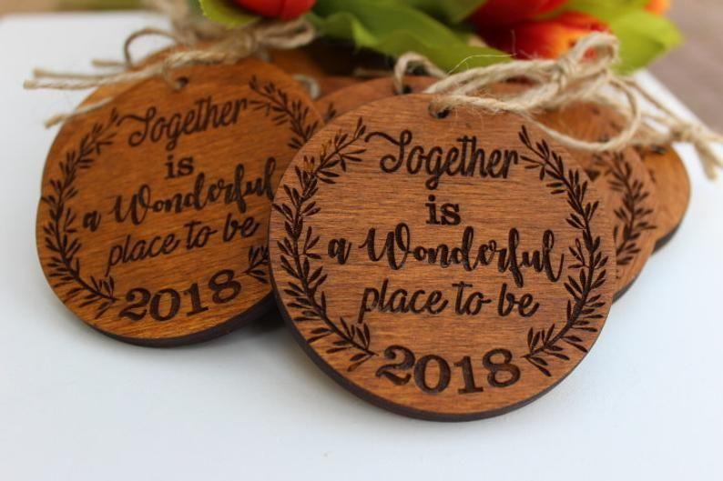 Wedding ornament favor, 50 pc.Wedding favors, personalized Christmas ball ornament, wedding winter f #personalizedweddingfavors