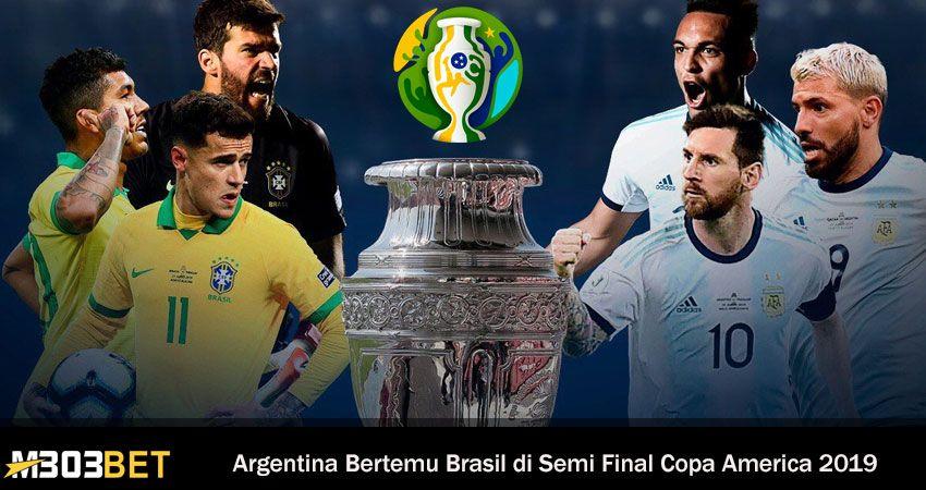 Argentina Bertemu Brasil Di Semi Final Copa America
