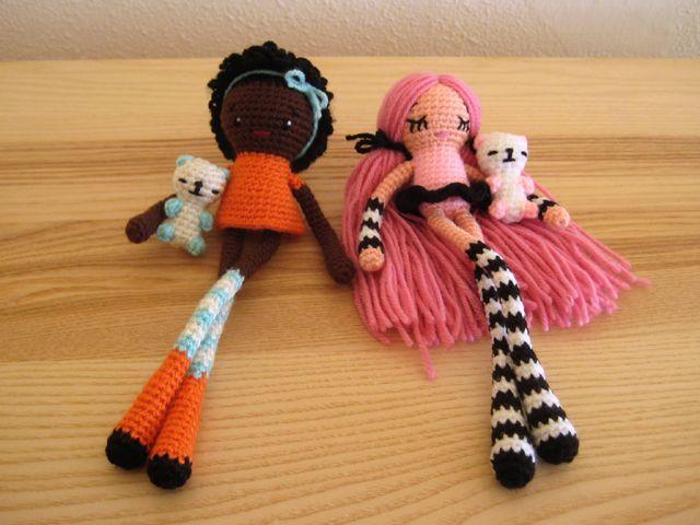 Kleine Püppchen | Kostenlose Häkelanleitung | Pinterest | Puppe ...