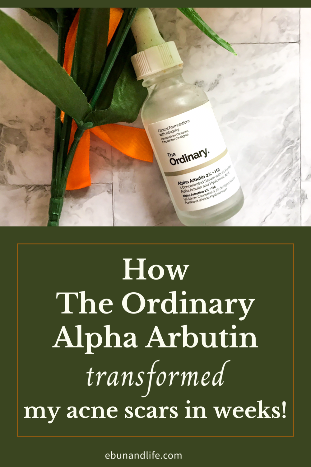 The Ordinary Skincare Routine Alpha Arbutin for