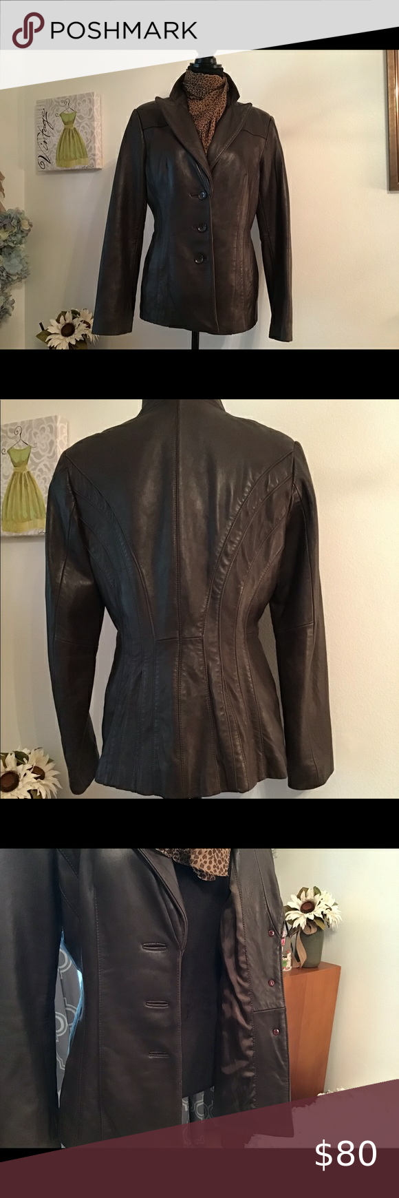 Jones New York Leather Jacket Leather Jacket Jones New York Jackets [ 1740 x 580 Pixel ]
