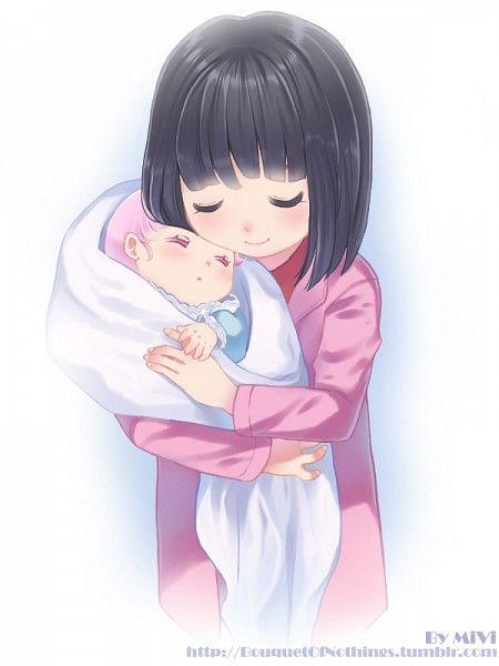 Hotaru holding baby Chibiusa