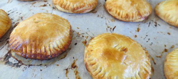 Mini salted caramel apple pies.