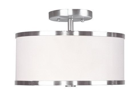 Livex lighting 6366 91 park ridge ceiling mount in brushed nickel