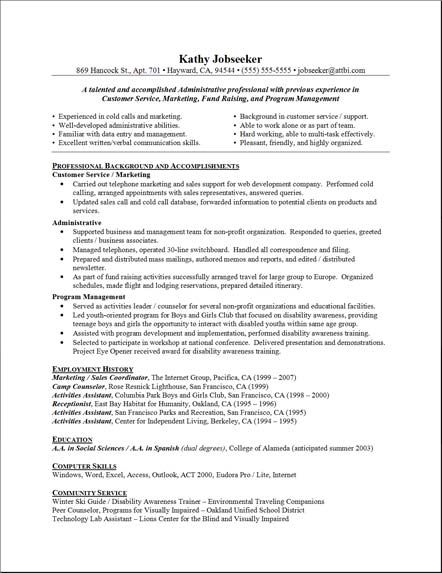 Recreation officer sample resume 4246448 - cartuning-bloginfo