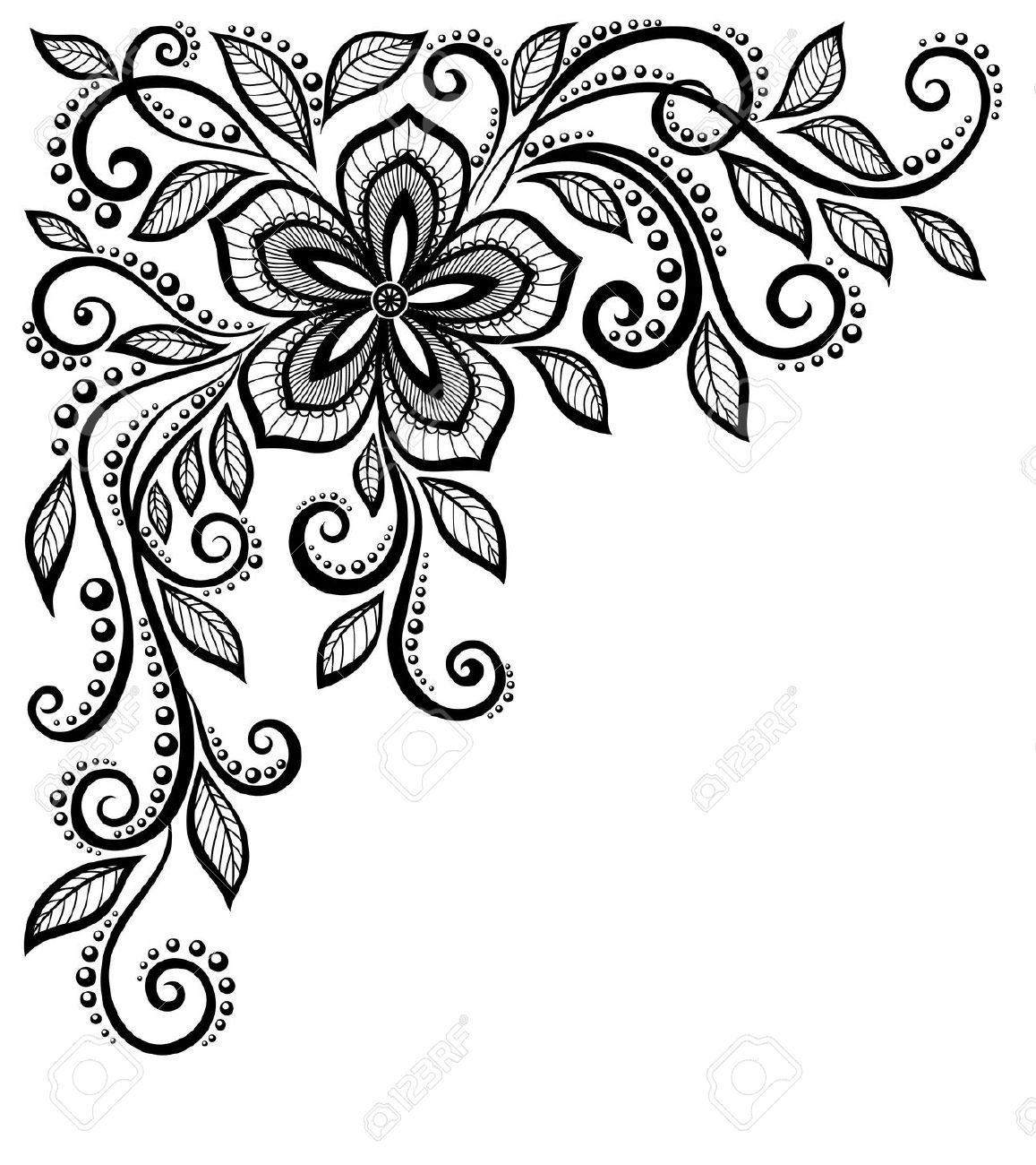 flower lace cliparts stock vector and royalty free flower lace rh pinterest co uk lace vector file lace vector free