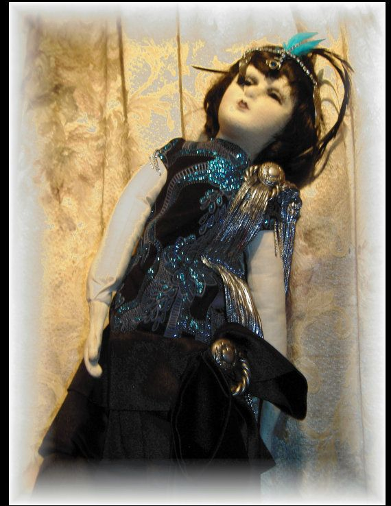 A Boudoir Doll's Evening Gown by HouseofLeBarre on Etsy, $150.00