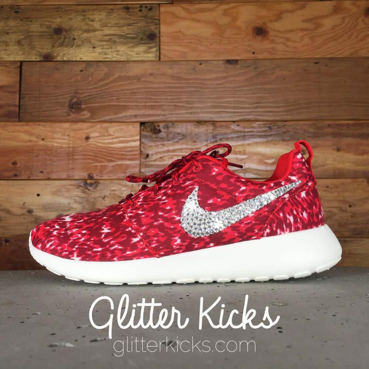 Women's Nike Roshe One Print Casual Shoes By Glitter Kicks - Customized  With Swarovski Crystal Rhinestones