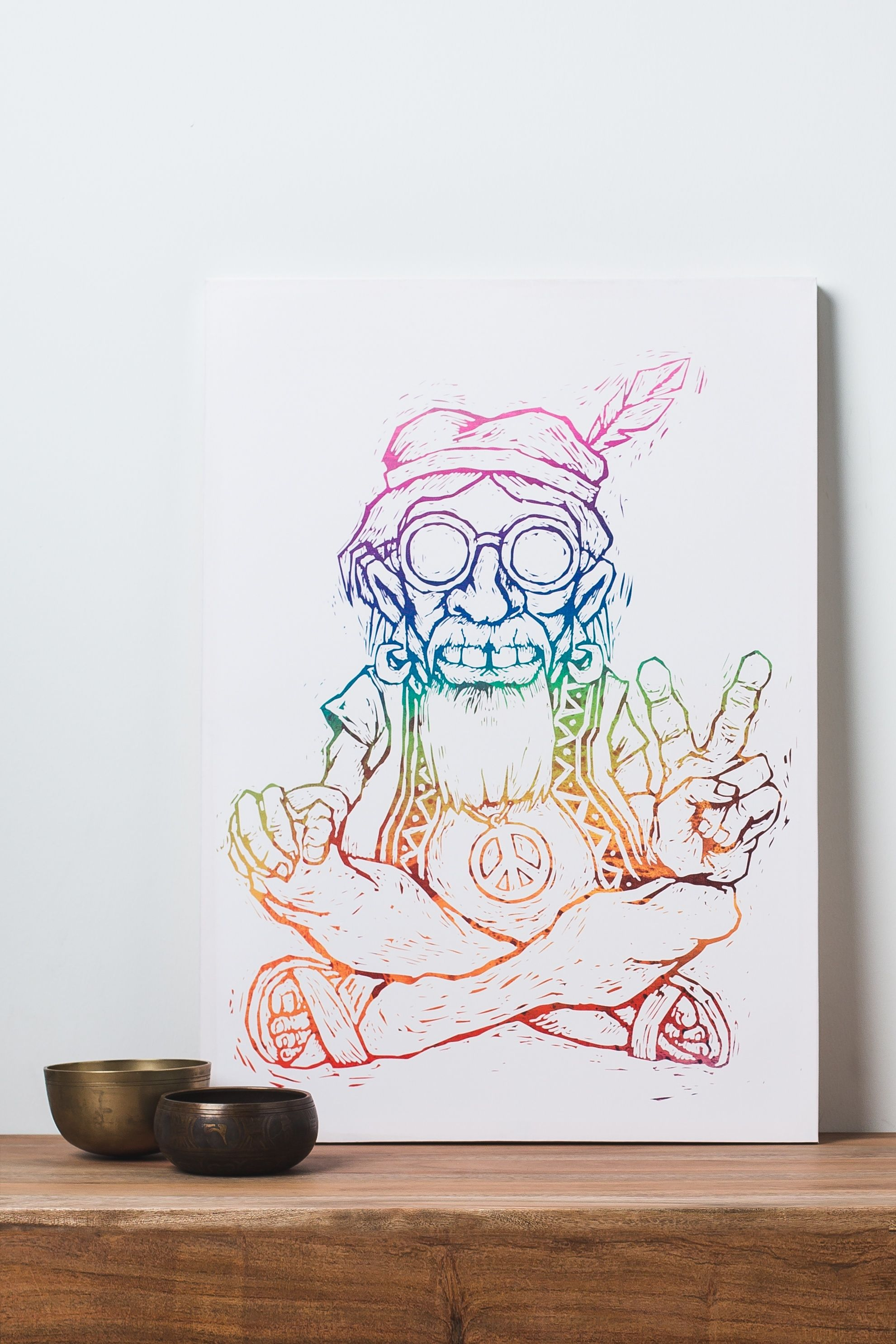 $34.95 Chuck the Hippie Canvas Art | Hippie things | Pinterest ...