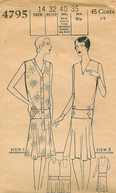 Patterns - Women\'s Dresses - Daytime 1929 | Mode 1920 -1929 Jahre ...