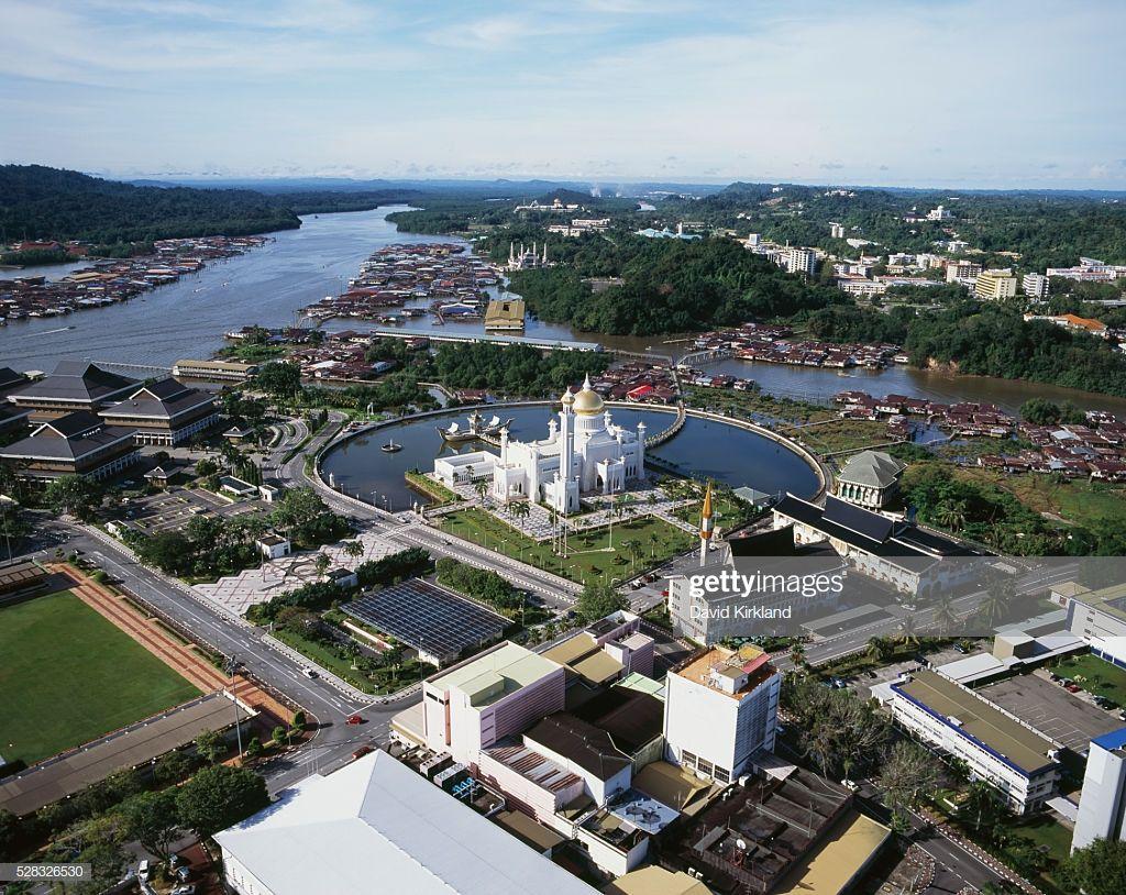 Aerial View Of Bandar Seri Begawan Bandar Seri Begawan Brunei Aerial View Bandar Seri Begawan Aerial