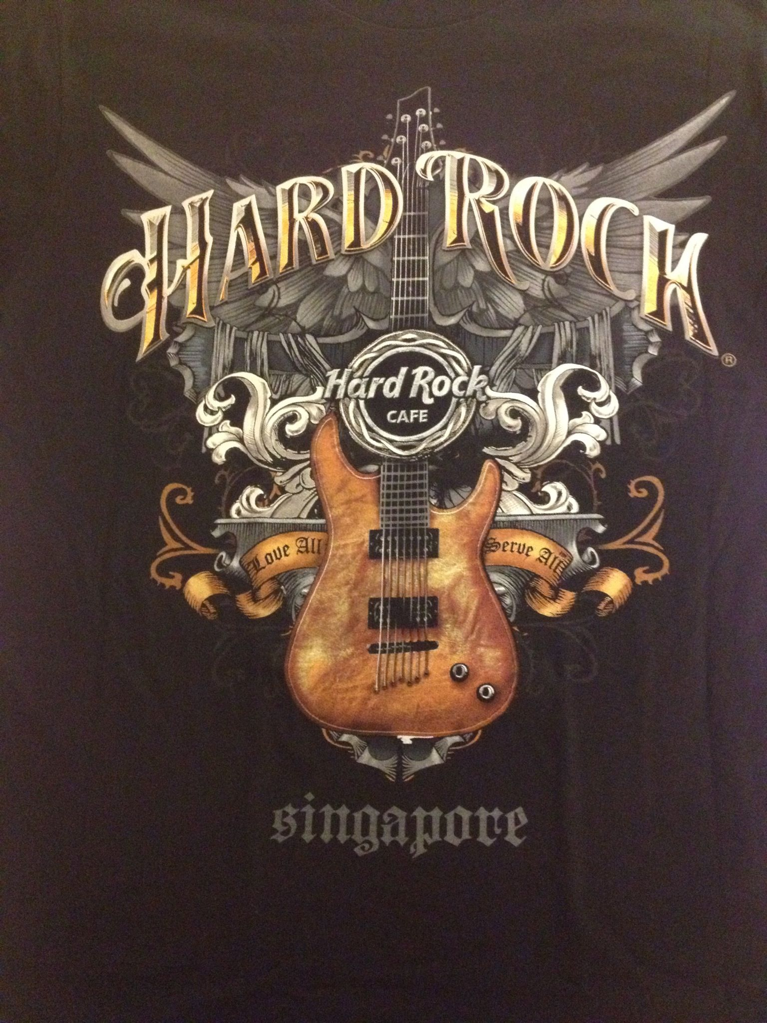 Design your own t shirt in singapore - Hard Rock Cafe Singapore T Shirt