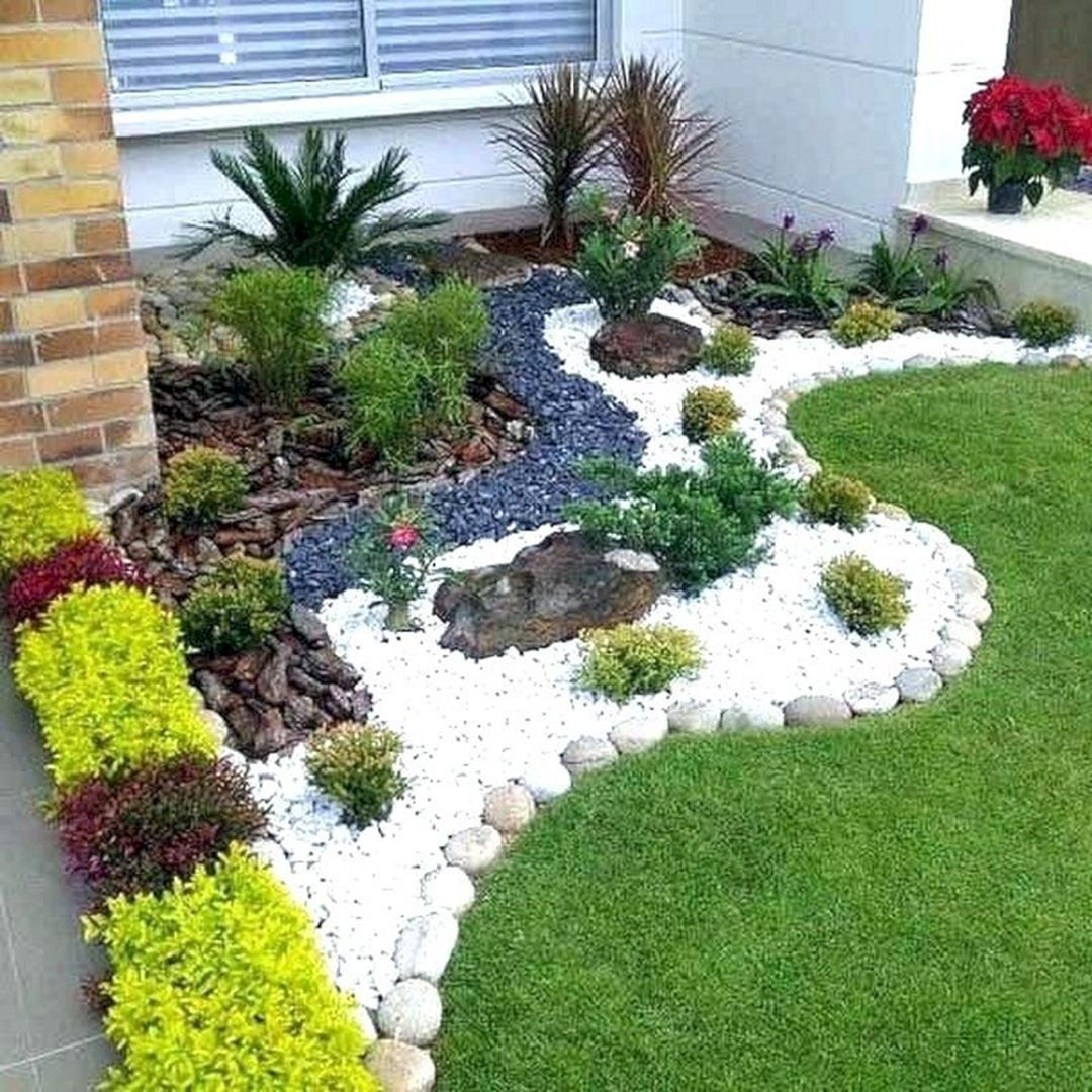 15 Incredible Front Yard Rock Garden Landscaping Ideas You Need To See Home Diy Ideas Rock Garden Design Stone Landscaping Small Front Yard Landscaping